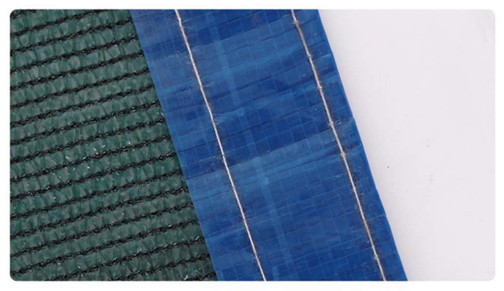 WUHX Rete Solare Protettiva per Esterni, verde Scuro a 6 Pin, Tasso di ombreggiatura Superiore al 90%, Adatto per balconi, Cortili, Piante grasse, posti Auto coperti,2  4m
