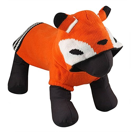 The Worthy Dog ''Tod The Fox'' Hoodie for Dogs, Small, Orange by The Worthy Dog