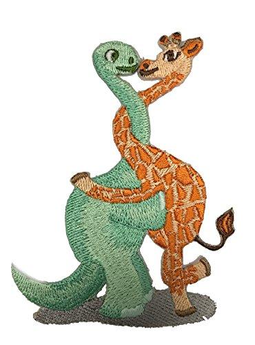 """Dinosaur Giraffe Love Hug"" Iron On Patch"