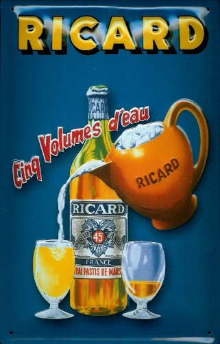ricard-pastis-cinq-volumes-deau-nostalgic-3d-embossed-domed-strong-metal-tin-sign-787-x-1181-inches