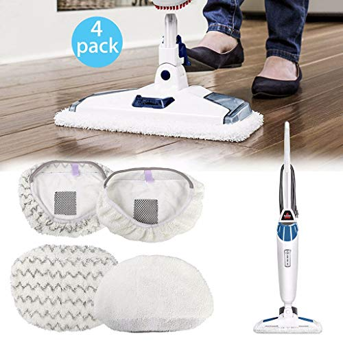 Nesee 4 Pack Steam Mop Pads Compatible for PowerFresh 1806 1940 1544 1440 Series