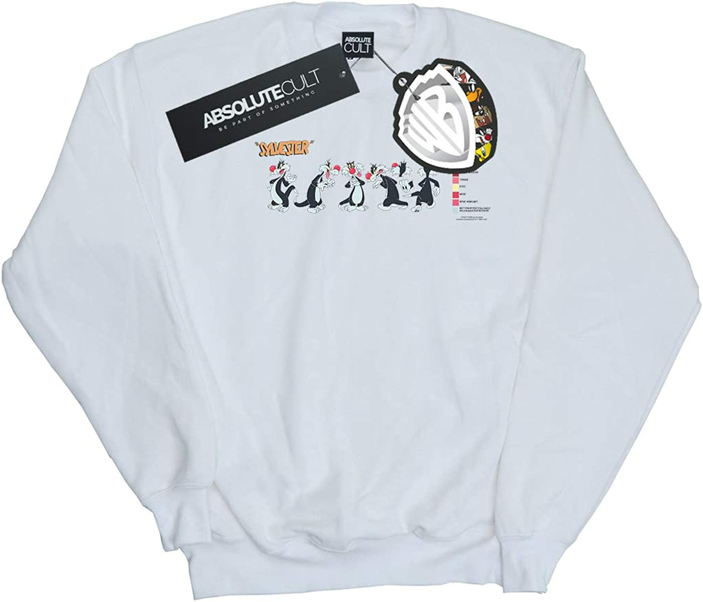Absolute Cult Looney Tunes Girls Sylvester Colour Code Sweatshirt