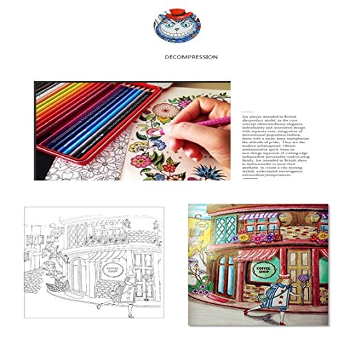 UNKE Secret Garden Graffiti Paperback English Wonderland Exploration Painting Book Coloring Books