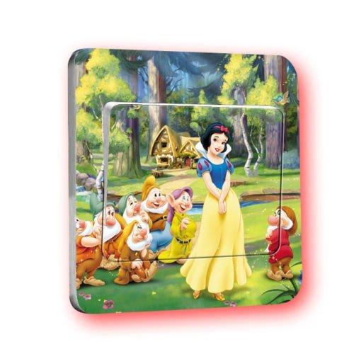 Disney L014 Sticker mural pour chambre d'enfant Motif princesses Disney CartoonPrintDesign