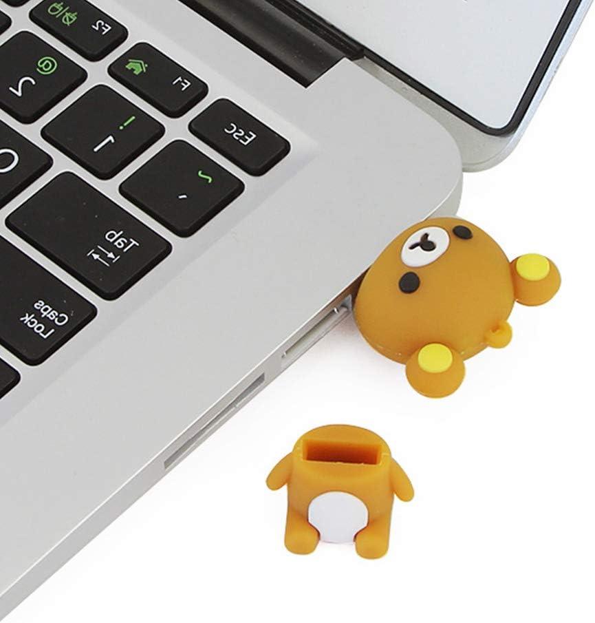 Usbkingdom Cl/é USB 2.0 16//32//64 Go en Forme dours Mignon en Forme danimal avec Stylo /à m/émoire de Forme Cl/é de Pouce Cl/é de Saut Disque Flash Marron 32 Go