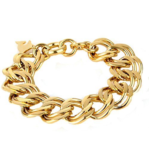 bishilin-stainless-steel-dolphin-link-bracelet-gold-plated-women