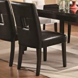 Coaster 103612BLK Newbridge Dining Side Chair with Plush Seating in Black Fabric – Pack of 2 For Sale
