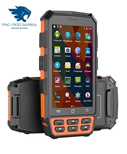 NEWPAC-5000 4G Rugged Android 7.0 PDA Handheld Computer - with 2D Barcode Scanner (Orange & Black)
