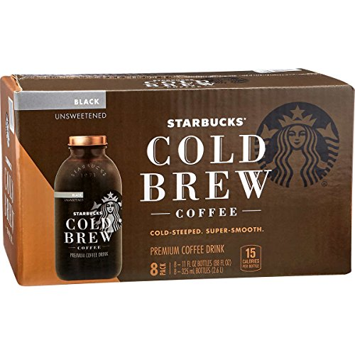 Starbucks Cold Brew Premium Black Coffee Drink, Unsweetened, 11 oz (8-Pack)