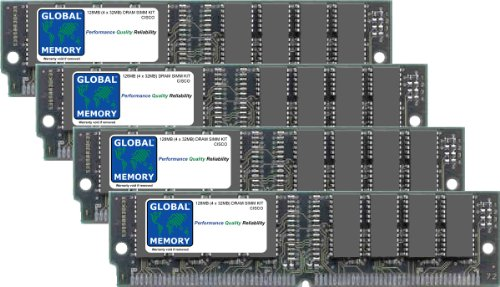 128Mo (4 x 32Mo) DRAM SIMM MÉMOIRE KIT POUR CISCO 7200 SÉRIE NPE-400 - Simm Memory Mb 128