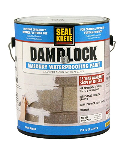 Seal-Krete 131001 DampLock Masonry Waterproofing Paint, Gallon, Bright ()
