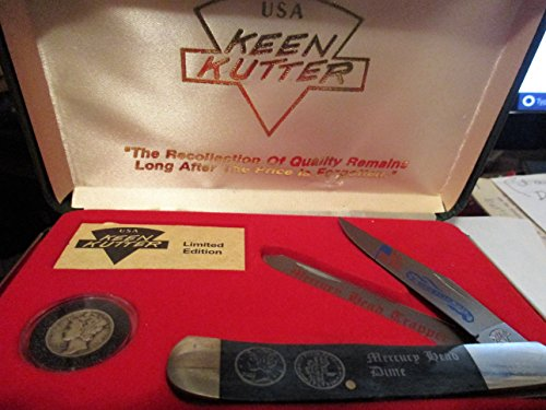 Commemorative Trapper - Keen Kutter Mercury Head Trapper ... Knife Commemorative and Sealed 1941 Dime