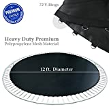PARTYSAVING 12' Round Replacement Trampoline Mat with 72 Rings, for 14' Frames, APL1371