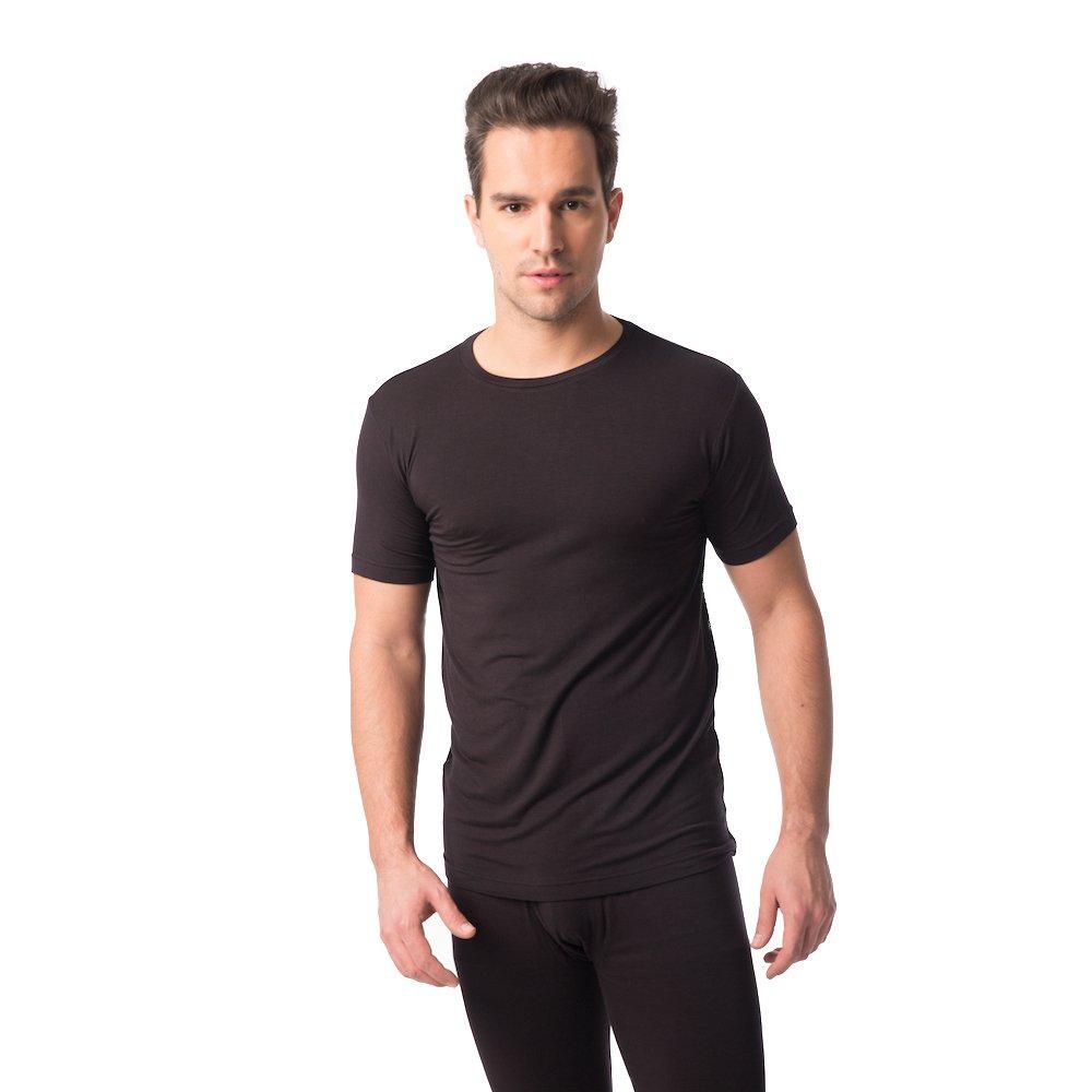 JASMINE SILK Mens Modal Thermal Top Vest T-shirts Black