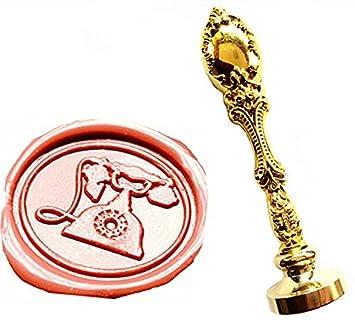 MNYR - Juego de sellos de cera, diseño vintage de cera, color bronce envejecido