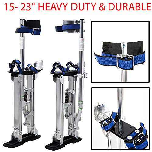 """15-23"""" Heavy Duty & Durable Drywall Stilts Aluminum Tool Stilt For Painting Painter Taping Silver Suitable For Both Home And Outdoor Use Such As High Installation And Maintenance"""