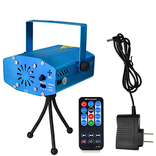SUMERSHA LED Laser Lights Sound Activated Disco DJ