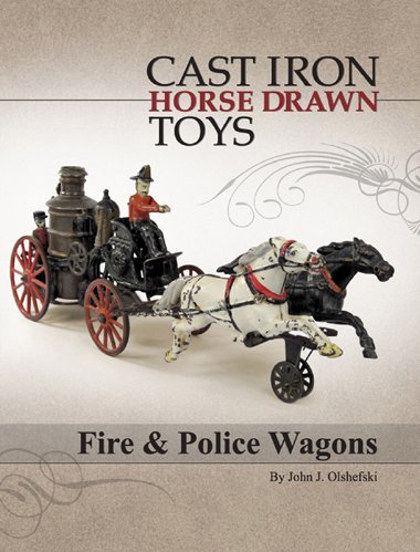Cast Iron Horse Drawn Toys - Fire and Police Wagons Fire Wagon Garden