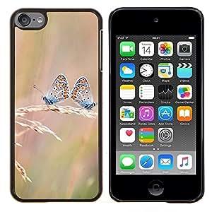 TECHCASE---Cubierta de la caja de protección para la piel dura ** Apple iPod Touch 6 6th Touch6 ** --Butterfly Dual