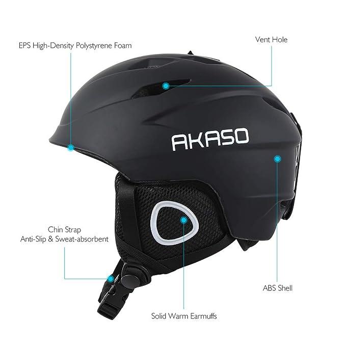 fff688969aa9 Amazon.com  AKASO Ski Helmet