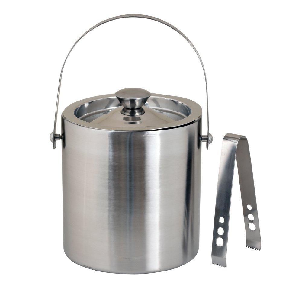 Kosma Stainless Steel Double Wall Ice Bucket with Tongs | Ice Cube Bucket - 18 x 15 cm by Kosma (Image #4)