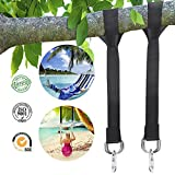 Tree Swing Hanging Kit Strap Outdoor Hanger Hammock Belt 5ft Nylon Webbing Strap With 2 Safe Zinc Alloy Carabiners Which Hold 4000 lbs Quick Installation & Release Adjustable 2 Pack+ 1 Carrying Bag