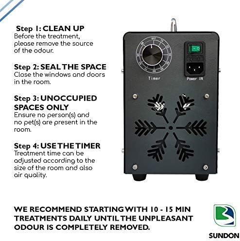 Brand SUNDON Ozone Generator 20,000mg/h - UK Portable Neutraliser for Viruses - Commercial & Industrial O3 Air Purifier, Deodorizer and Sterilizer - Odor Remover