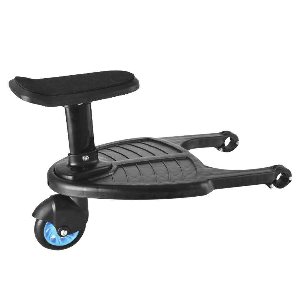 ErYao Stroller Glider Board Easy Rider Trailer Wheeled Buggy Board - Stroller Along Board - Quick and Easy to Use - Wheeled Board Stroller Ride on Board with Detachable Seat (Blue)