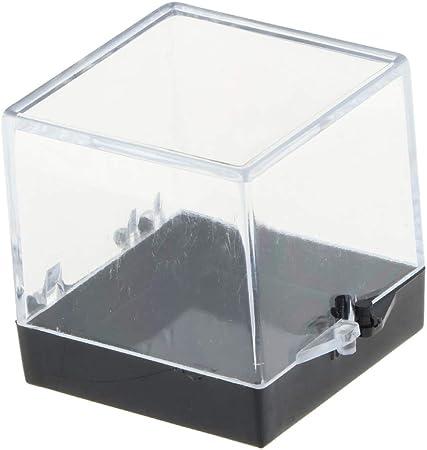 perfeclan Caja de Presentación Vítrina de Exhibición Estuche de Muestra Transparente para Modelo 3D/ Figura de Acción/Rocas y Minerales - 3x3x3.5cm: Amazon.es: Hogar