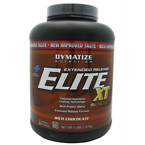 Dymatize Elite XT Extended Release Protein, Rich Chocolate, 4 lbs (Protein Whey Dymatize Powder Elite)