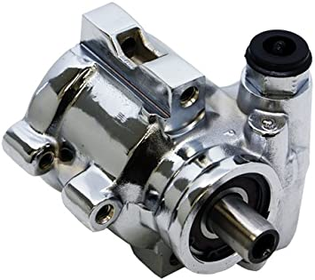 Amazon Com Type Ii Compatible Replacement For Chevy Gm Power Steering Pump Chrome Automotive