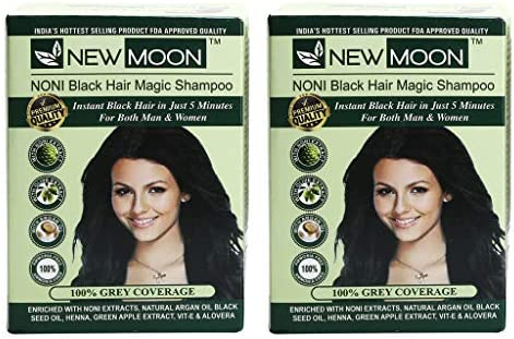 162d463ea12 Buy New Moon Noni Natural Black Hair Dye Color (20 ML 5 PIECES) Online at  Low Prices in India - Amazon.in