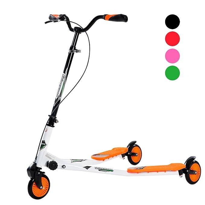 BTM Los niños de 3 ruedas plegable Speeder Patinete Tri ...