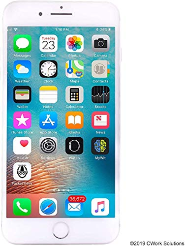 Apple iPhone 8 Plus, 64GB, Silver – Fully Unlocked (Renewed)