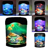 CALOVER Ocean Decor Electric Jellyfish Tank Aquarium night light With Color Changing Light Effects Home Decorations for Living Room