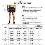 BALEAF Men's 3 Inches Running Shorts Quick Dry Gym
