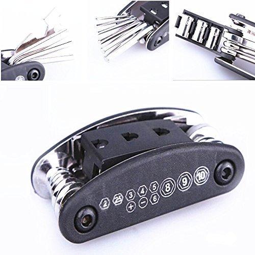 Screw Allen Hex Blade Socket (Qiorange Bike Motorcycle Travel Repair Tool Allen Key Multi Hex Wrench Screwdriver Kit)