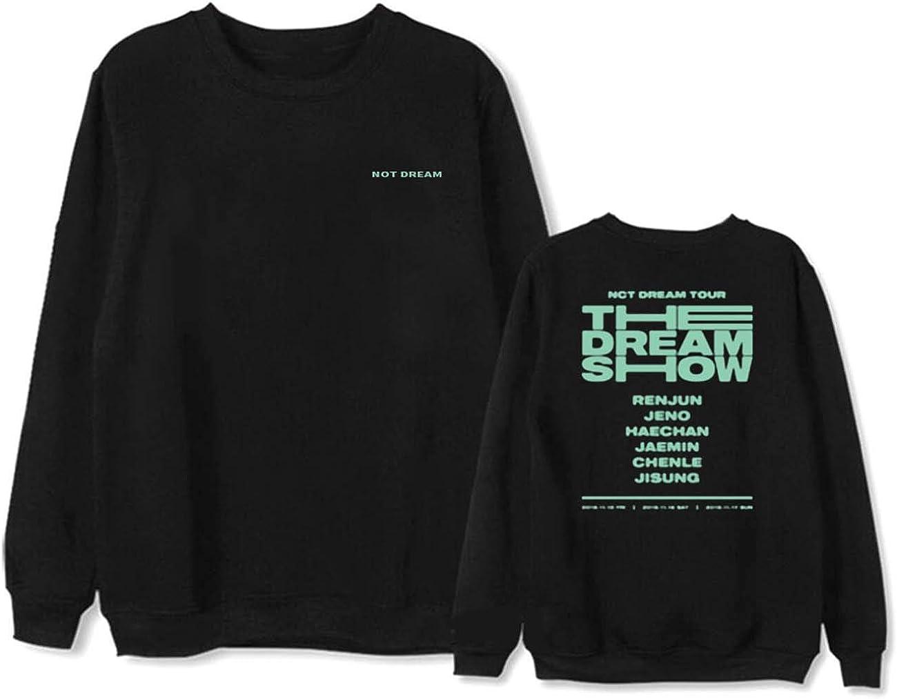 ZIGJOY NCT Dream Tour The Dream Show Sweatshirt Lange /Ärmel Rundhalspullover Jeno Haechan Jaemin Chenle Jisung Hoodie f/ür Fans