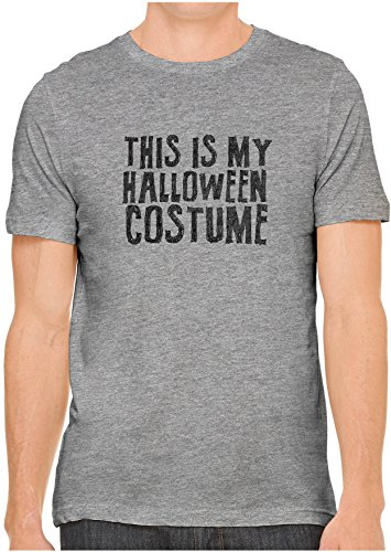 Halloween Costumes Austin Texas (Austin Ink Apparel Unisex Fine Jersey This is My Halloween Costume Print Tee (Heather Grey,)