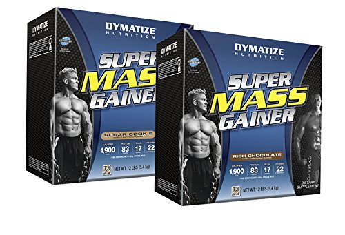 Dymatize Nutrition Mass Gainer Rich Chocolate 12 lbs/Sugar Cookie 12 lbs by Dymatize Nutrition
