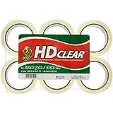 "Duck HD Packaging Tape, 1.88"" x 54.6 yd, Crystal Clear, 6 Rolls (441962)"