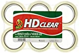 Duck HD Packaging Tape, 1.88'' x 54.6 yd, Crystal Clear, 6 Rolls (441962)