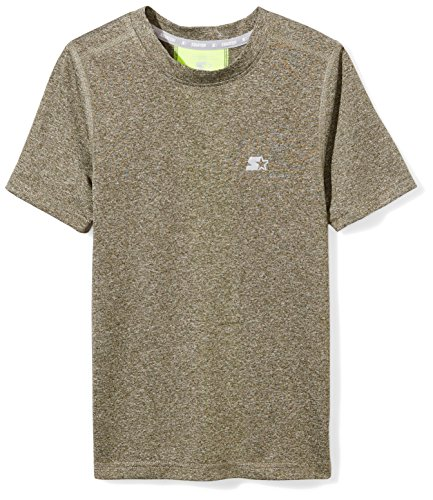 Starter Boys' Short Sleeve TRAINING-TECH Running T-Shirt with Ventilation, Amazon Exclusive, Bronze Green, M -