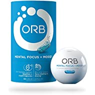 ORB Mental Focus | Brain Nootropics + Fish Oil | Clarity and Concentration Support, Calm and Mental State Support, Alertness and Focus Support - 60 Count