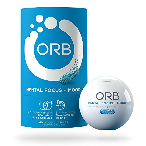 ORB MENTAL FOCUS | Brain Nootropics + Fish Oil | Clarity and Concentration Support, Calm and Mental State Support, Alertness and Focus Support - 60 count by ORB Wellness