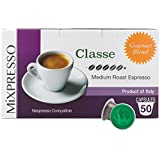 Nespresso Capsules (Compatible) - Coffee From Italy - By Mixpresso (50 Capsules, Classe: Medium)