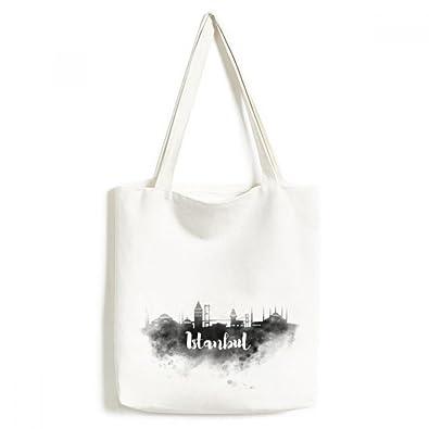 Amazon Com Istanbul Turkey Ink City Environmentally Tote Canvas Bag