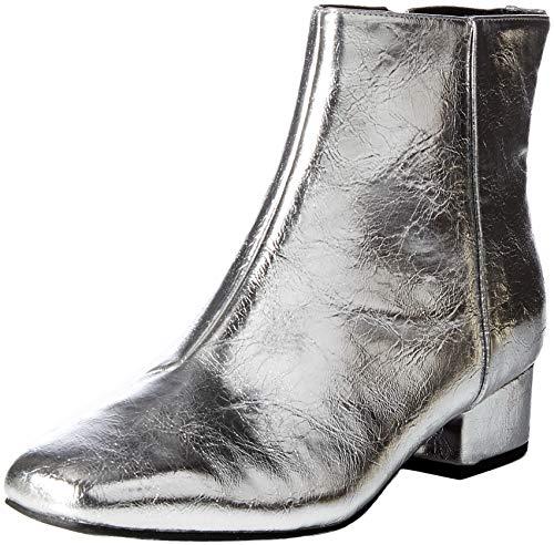 Circus by Sam Edelman Women's Lyndsey Fashion Boot, Soft Silver Crackle Metallic