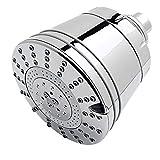 Sprite Showers AE7-CM-R Cabezal de regadera filtrado todo en uno de 7 ajustes, una sola unidad, chapado en cromo