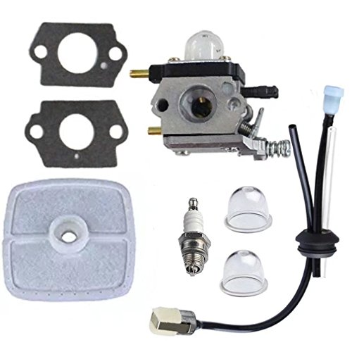 Mariner Carburetor (JahyShow C1U-K82 Carburetor with Air Filter Gasket Fuel Repower Kit for Echo Mantis Tiller 7222 7225 TC210 TC210i Cultivator)